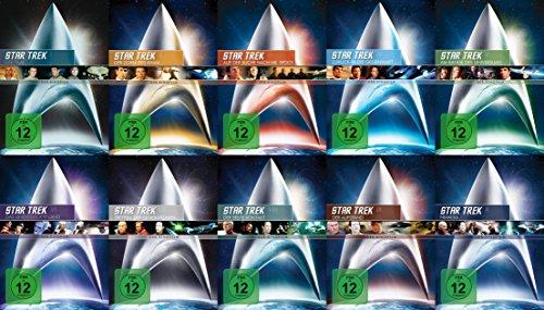 Star Trek RAUMSCHIFF ENTERPRISE Kinofilme Complete Collection Teil 1 2 3 4 5 6 7 8 9 10 ORIGINAL CREW / CAPTAIN KIRK & PICARD 10 DVD Edition