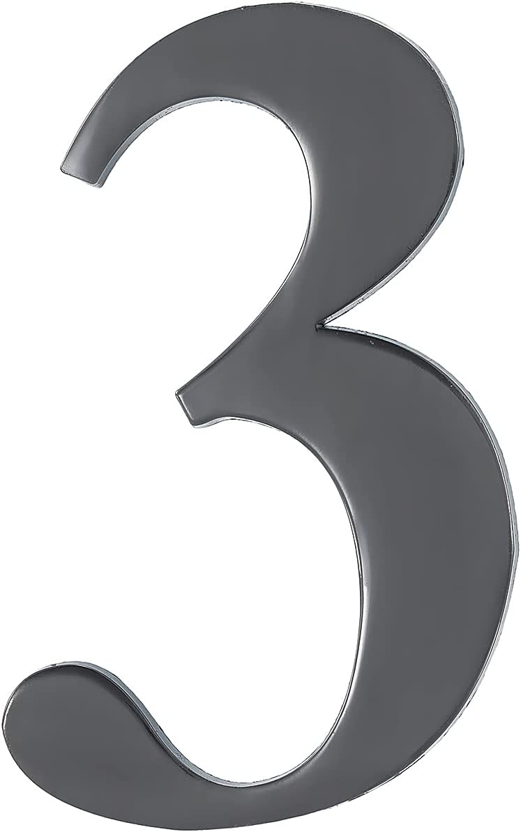 Modern House Numbers 4 Inch New item Aluminum Hollow Addres Super sale period limited alloy Street