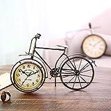 DIEFMJ Brown Retro Schmiedeeisen Crafts Fahrradsitzuhr Home Decoration Kreative Geschenkuhr 36 * 4 * 26 (cm)