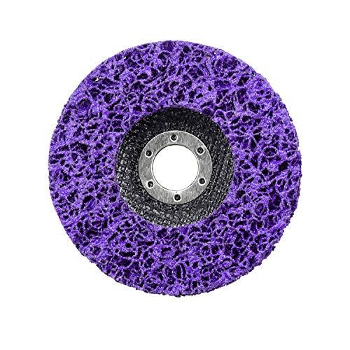 Inntek Reinigungsscheibe 125 mm, Reinigungsscheibe Grobreinigungsscheibe CSD Ø 125mm CBS für Winkelschleifer Clean Strip Disc Nylongewebescheibe Lila