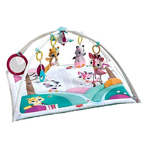 Tiny Love Gymini Deluxe Gimnasio de actividade, Manta musical de juegos para bebés con 18 actividades para el desarrollo y juguetes electrónicos para llevar, Tiny Princess Tales (Producto para bebé)