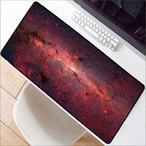 HONGHUAHUI Purple Space Large Lock Edge Game Muis Mat voor Laptop Keyboard Pad Bureau Mat, 300X800X2MM