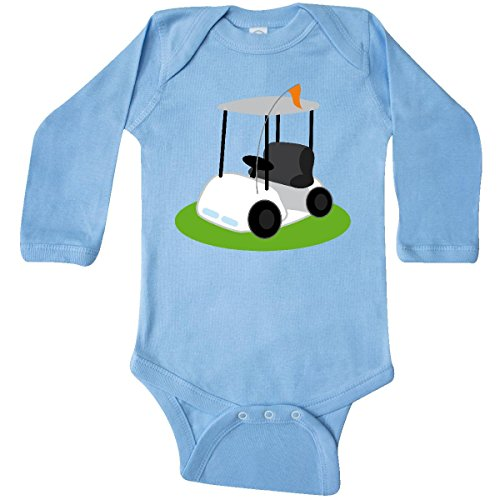 inktastic - Golf Cart Golfing Gift Long Sleeve Creeper 6 Months Light Blue 64b2 - http://coolthings.us