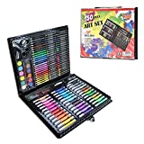 Set di matite da disegno Mostop 150 pezzi, pastelli, pastelli a olio, pennarelli, gomme da cancellare, matite acquerellabili, cucitrice, temperamatite con strumento da disegno in confezione regalo
