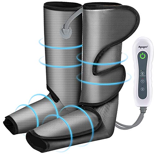 Foot and Leg Massager for Circulation and Relaxation, Rechargable Leg Massagers for Foot Calf and Leg with Hand-held Controller 4 Modes 3 Intensities, Best Gifts for Men/Women/Mother/Father/Family