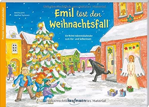 Emil löst den Weihnachtsfall: Ein Krimi-Adventskalender zum Vor- und Selberlesen (Adventskalender mit Geschichten für Kinder: Ein Buch zum Vorlesen und Basteln)