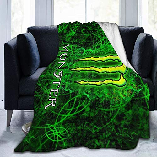 """3322 M-Onster En-Ergy Lightweight Super Soft Blanket Cozy Luxury Warm Plush Blanket for Bed Couch Sofa 80"""" X60"""