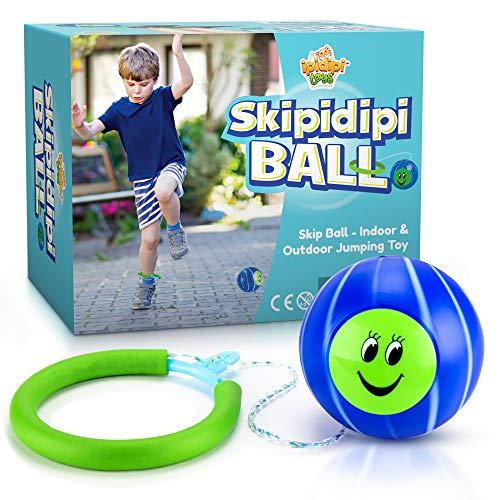 IPIDIPI TOYS Skip It Ankle Toy Retro Skipit Toy Hopper Ball for All Ages - Improve Coordination, Get Exercise The Fun Way - Playground Ball with Adjustable Rope Length for Kids of All Heights