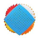 HXGL-Drum Cube Cubo mágico de 11 x 11 velocidades - Giro rápido y Suave - Alta dificultad - Rompecabezas 3D esmerilados sin Pegatinas Juguetes educativos niños Adultos