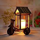 Modeen Creative Wood Tricycle Eaves Night Light Couple Décoration Nouveau produit...
