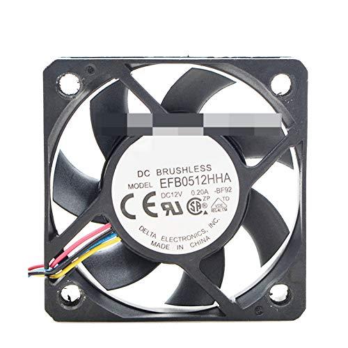 PanYFDD EFB0512HA EFB0512HHA 5010 DC 12V 0.20A 0.15A 3 pines o 4 pines PC PC servidor Ventilador de enfriamiento axial (color de la hoja: EFB0512HHA 4 PIN)