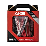DS18 AK8 Complete 8 Gauge CCA Amplifier Installation Wiring Kit - Ampkit Helps Make Connections, Brings Power to Your Radio, Subwoofers, Speakers with Super Flex Wire - 960W for 1 Amplifier