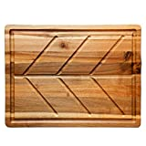 Villa Acacia Wood Carving Board for Meat, Extra Large 24 x 18 Inch Cutting Board