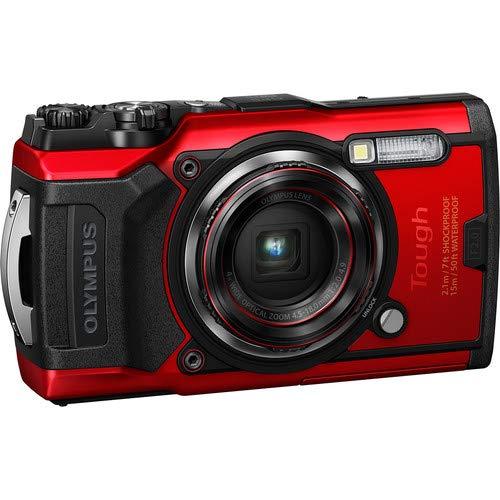 OLYMPUS Tough TG-6 Waterproof Camera, Black Tough TG-6 Waterproof Camera, Red Bundle