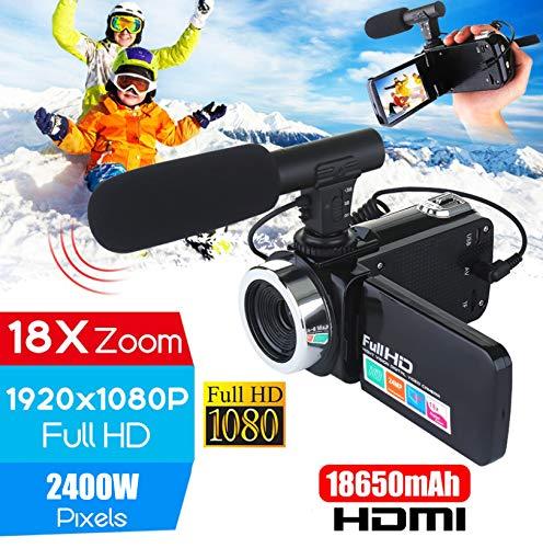 Metermall Home Professionele 4K HD-camcorder Videocamera Nachtzicht 3,0 inch LCD-aanraakschermcamera 18x digitale zoomcamera met microfoon