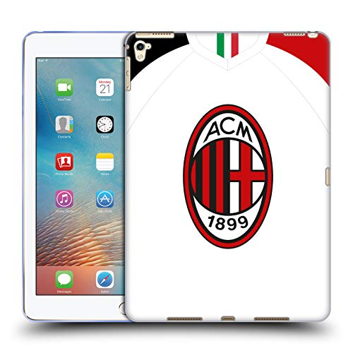Official AC Milan Away 2019/20 Crest Kit Soft Gel Case Compatible for Apple iPad Pro 9.7 (2016)