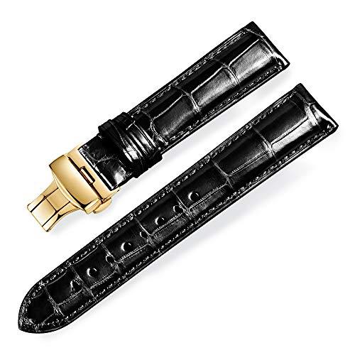 Cinturini per orologio sostitutivi con cinturino in pelle di alligatore...