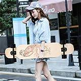 TYXTYX 42' Pintail Longboard Principiante Skate Slalom Downhill Cruiser 107cm,Drop-Through Freeride Skate Cruiser Boards,Skateboard Completo, Idea de Regalo San Valentin