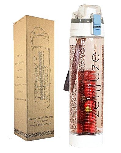 Genevieve Avani Lifestyles ZENFUZE - Botella de agua con infusor de frutas (diseno actualizado)