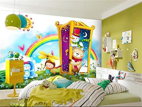 XZCWWH Custom Mural Wallpaper 3D Photo Wallpaper Kids Room Fairy Tale World Rainbow Kingdom Painting Sofa Tv Background Mural,350Cm(W)×256Cm(H)