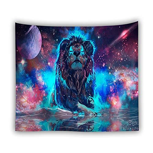 jtxqe Fábrica Directa tapicería Picnic Estera Animal Tapiz impresión Digital Lobo león Tigre Pared Caliente Colgar en la Pared decoración 1 150X150 cm