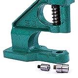 CXD Máquina de Juego de Remache Profesional Alicates de Remaches Set Pinzas remachado botón, Prensa Manual para la artesanía en Cuero Cortinas Cortinas empujan,Verde