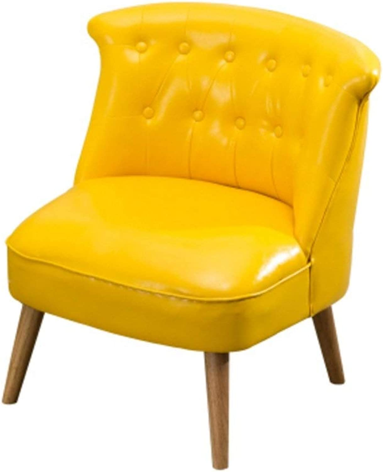 Leather SofaLiving Room Leisure Seat High Rebound Sponge Pad Lazy Sofa Bench Leg Detachable Removable and Washable Portable Seat Floor Chair
