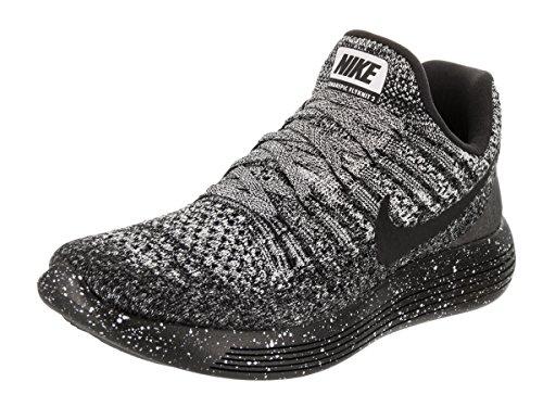 Nike Women's Lunarepic Low Flyknit 2 Running Shoe Black/White-Anthracite, 6.5 B(m) Us