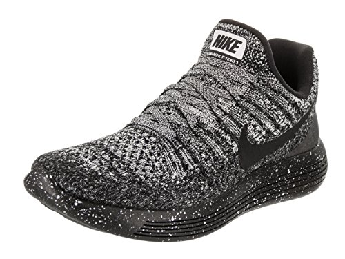 Nike Women's 'Lunarepic Low Flyknit 2' Running Shoe (8.5 B(M) US, Black/Black-White-Racer Blue)