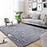 Area Rug, Qumig Ultra Soft Fluffy Area Rugs for Bedroom Luxury Shag Rug Faux Fur Non-Slip...