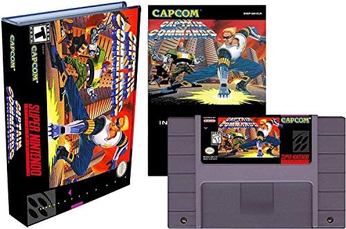 Captain Commando Super Nintendo SNES Reproduction Video Game Cartridge with Universal Game Case product image