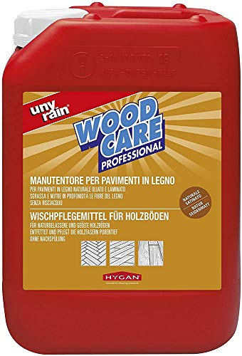 Hygan Unyrain Woodcare - Detergente per pavimenti in legno, 1 l o 5 l, 5 l