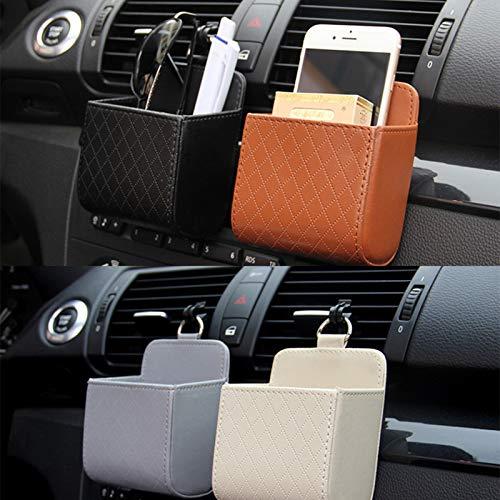 Bolso de Almacenamiento de automóviles Ventilación de Aire Tablero Tidy Colgante Organizador de Cuero Caja Gafas Titulares de teléfonos Organizador de Almacenamiento Accesorios para automóviles
