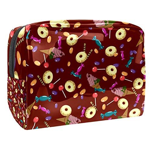 Trousse de toilette de voyage multifonction pour femme – Crème, bonbons, donuts