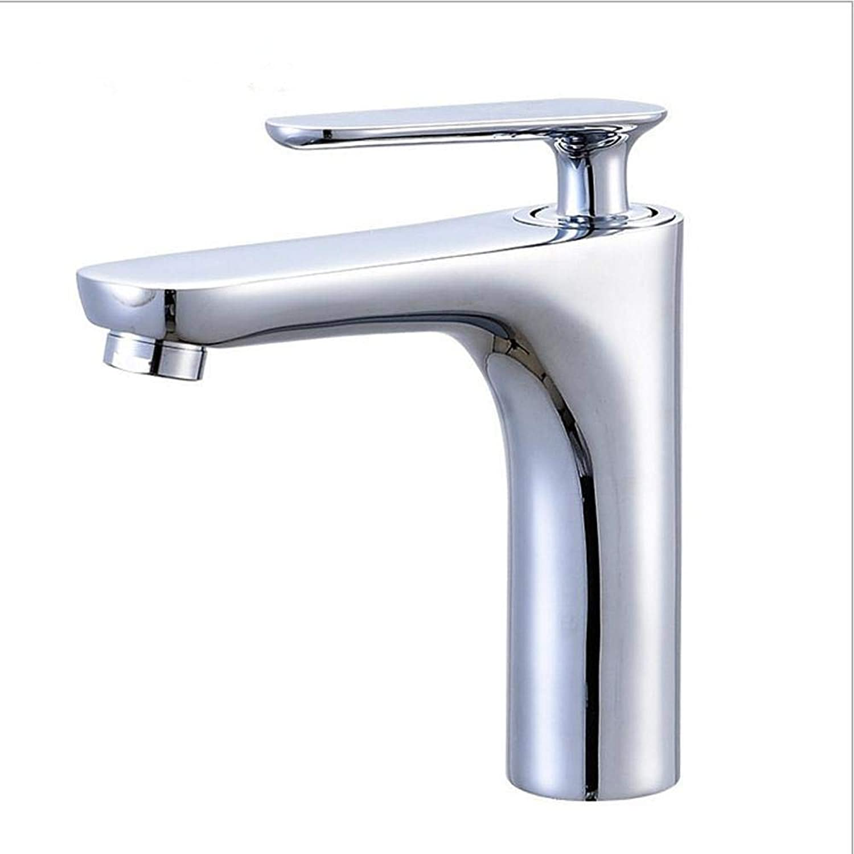 ZhongYi Hot and cold water basin faucet copper electroplating basin faucet