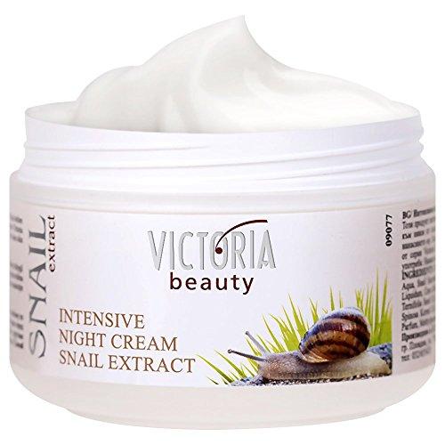 Victoria Beauty - Anti Aging Nachtcreme gegen Falten und Augenringe, straffende Gesichtscreme mit Schnecken-Extrakt für Frauen und Männer (1 x 50 ml)