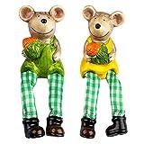 Ideas con corazón de Figuras Decorativas con Patas de Perro, Primavera y Pascua, 18 cm, Ratones