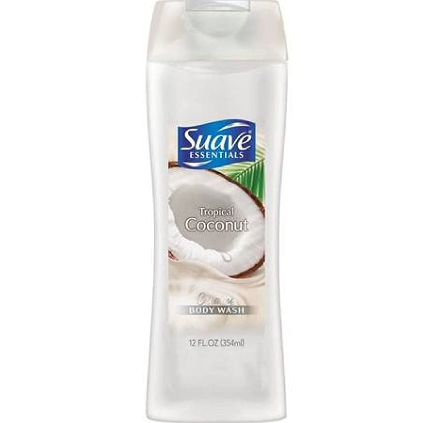 管理する楽しい子供っぽいSuave Naturals Body Wash - Tropical Coconut - 12 oz - 2 pk by Suave [並行輸入品]