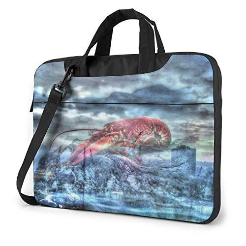 DJNGN Laptop Shoulder Bag Laptop Case 13 Inch, Crayfish Lobster Computer Sleeve Cover, Business Briefcase Protective Bag
