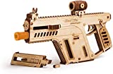 Wood Trick 3D Wooden Puzzle Assault Rifle Mechanical Models with Board Game, Assembly Constructor, Brain Teaser, Best DIY Toy, IQ Game for Teens and Adults
