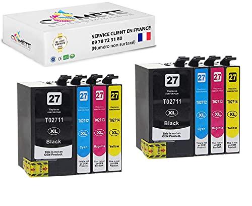 Cometa 27XL T27 T2711 T2712 T2713 T2714 - Cartuchos para impresoras Workforce (4 unidades, 4 negro, 4 cian, 4 magenta y 4 amarillo)