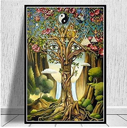 YYTTLL Rompecabezas de 1000 piezas montado cuadro abstracto aceite Abadejo composición y arte de la mujer para el juego de niños adultos juguete educativo