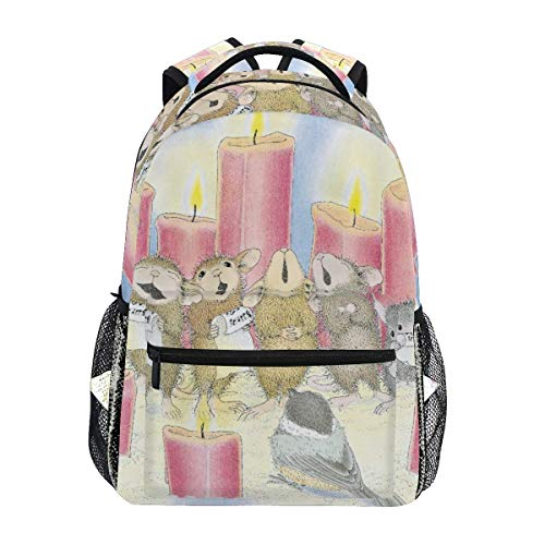 Casual Printed Backpack,House Mouse College School Book Bag Camping Children Backpacks 40cm(H) x29cm(W)