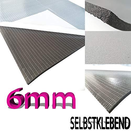 Surga Performance DSM Dämmschaummatte feinporig, selbstklebend 1m x 1m x 6mm (1m²)