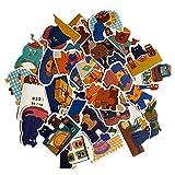 Pegatinas para maleta de dibujos animados, para viajes, maletas, portátiles, tazas, pegatinas planas, impermeables