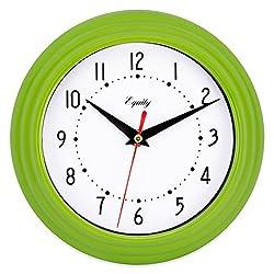 Equity by La Crosse 25016 Analog Wall Clock 8, Green