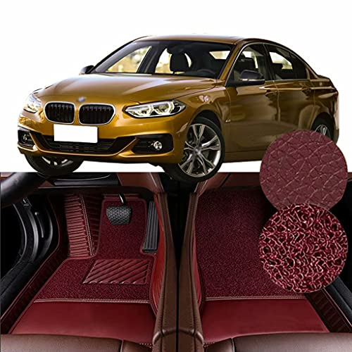 QCYP Alfombrillas para Coches Adecuado para BMW Serie 1 Sedan 120i (B48A20C / Sin Crucero de Velocidad Fija) 2017 Alfombrillas de Auto,LHD