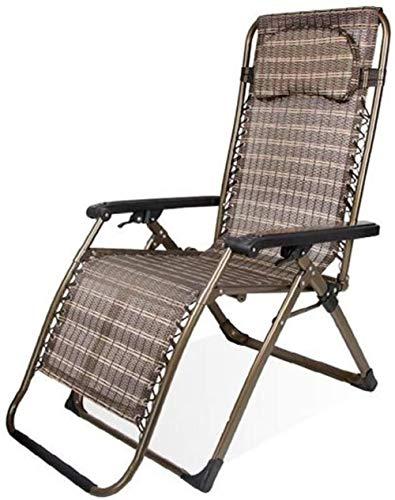 GBLight Sun Lounger Reclining Garden Deck Chair in Zero Gravity with deckchair (Color : T4)