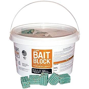 JT Eaton 704-PN Bait Block Rodenticide Anticoagulant Bait Peanut Butter Flavor For Mice and Rats  Pail of 64