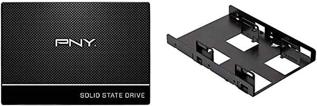 "PNY CS900 240GB 3D NAND 2.5"" SATA III Internal Solid State Drive (SSD) - (SSD7CS900-240-RB) & Corsair Dual SSD Mounting Br..."